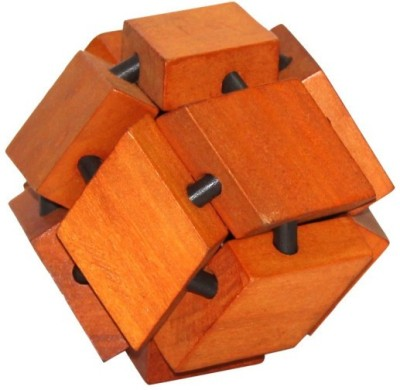 Cubelelo Wooden Chestnut Ball Puzzle