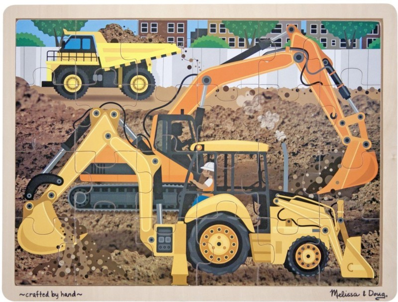 Melissa & Doug Construction Jigsaw(24 Pieces)