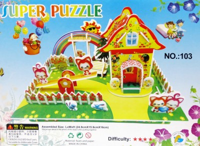 Lionsland Rainbow Farm House 3D Puzzle