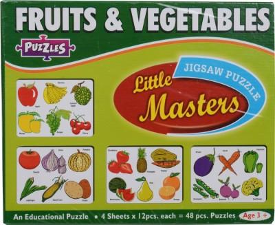 1st Home Little Master Fruit & Vegitablles Puzzles