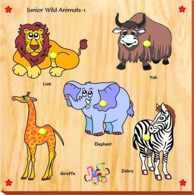 Kinder Creative Junior Wild Animals with Knobs
