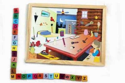 Luk Luck Educational Wooden Toy Alphabhetic Letters