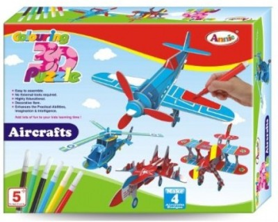 Lotus Annie Colouring 3D Puzzle - Aircraft