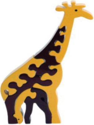 Learner's Play Giraffe Family Jigsaw Puzzle - Colored