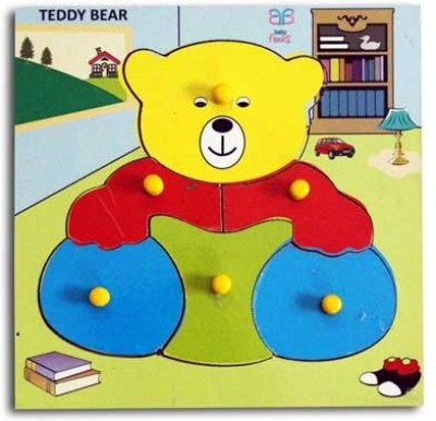 Luk Luck Educational Wooden Toy Teady Bear Colours