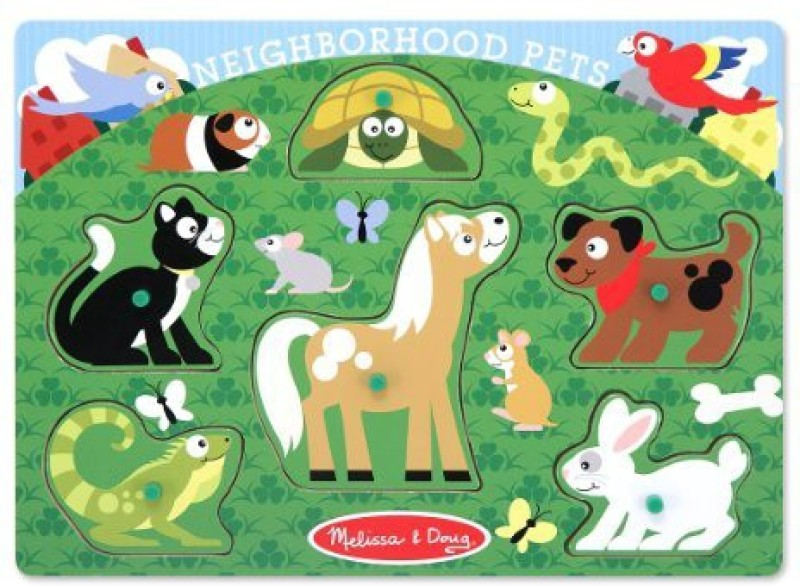 Melissa & Doug Neighborhood Pets Peg 1 Pieces