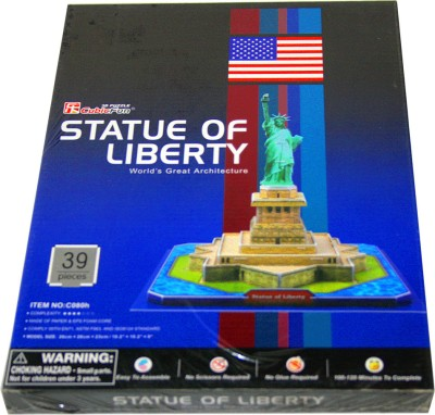 Adraxx Junior Educational 3D Board Statue Of Liberty Modeling Kit