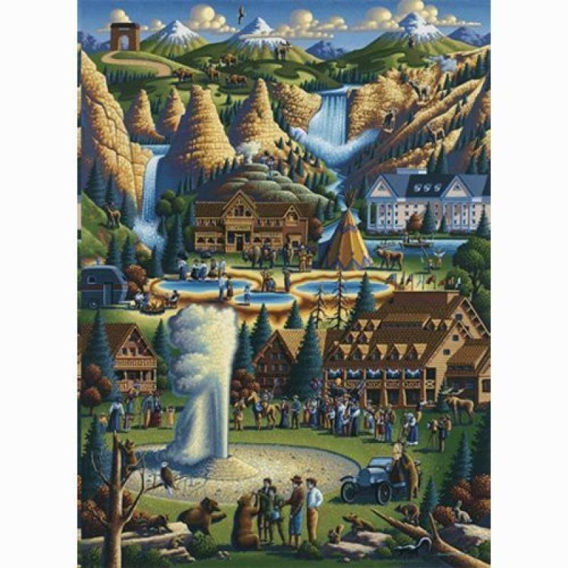 Dowdle Folk Art Puzzle - Yellowstone 500 Pc