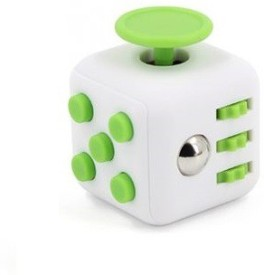 Premsons The Original Fidget Cube Relieves Stress and Anxiety for Children and Adults Attention Toy Matt Finish White and Green(1 Pieces)