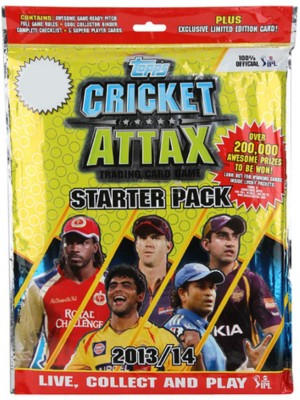 topps india cricket attax starter pack 2013/14