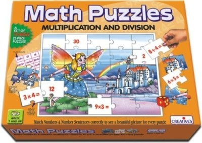 Creative Education Math Puzzles - Multiplication and Division