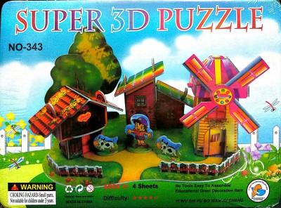 UniqueToys Super 3D puzzle Farm House