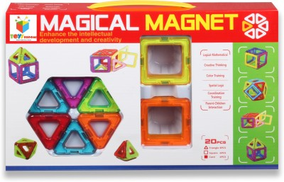 Toys Bhoomi 20 Piece Magical Magnetic Building Blocks Construction Learning Educational Toy