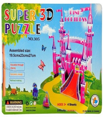 VABA 3D PUZZLE PINK FORTRESS