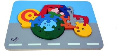 wood o plast Tractor Raised Puzzle With 1-10 Numbers