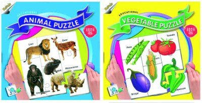 Ratnas Pack Of 2 - Educational Animal & Vegetable Puzzle
