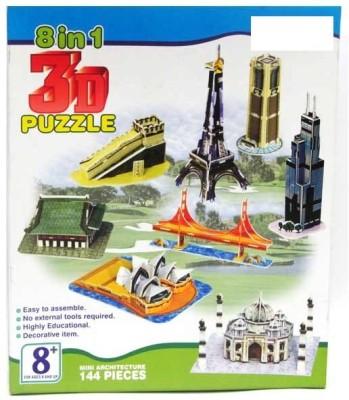 Prro 8 in 1 3D Puzzle