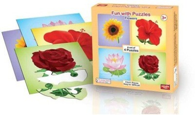 ANINDITA TOYS FUN WITH PUZZLES FLOWERS - FWP-FL