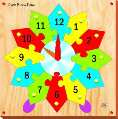 Kinder Creative Clock Puzzle - Flower