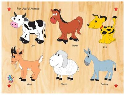 Skillofun Skillofun Fun ID - Useful Animals (Raised)