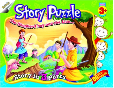 Ratnas Story Puzzle - The Shepherd Boy And The Lion
