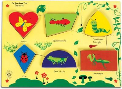 Skillofun Skillofun Fun Geo Shape Tray - Insects (Raised)