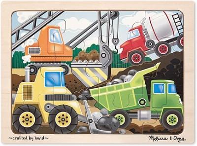 Melissa & Doug Construction Site Jigsaw (12 Pc)
