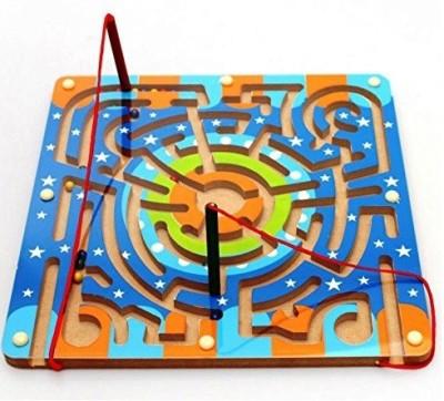 Muwanzi Multicolor Wooden Magnetic Maze Labyrinth