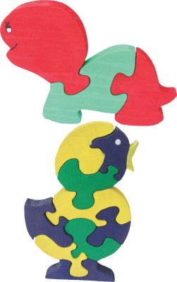 Enigmatic Woodworks Wooden Jigsaw Puzzle Baby Tortoise + Singing Bird