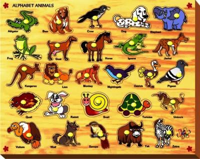 Kinder Creative Alphabet Animals with Knobs