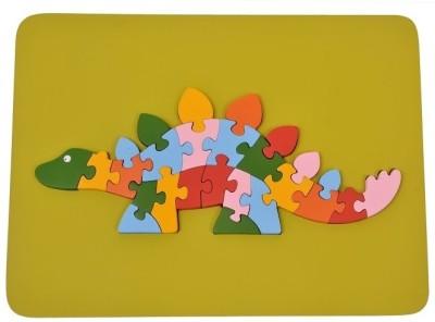 wood o plast Dinosauras Raised Puzzle Tray