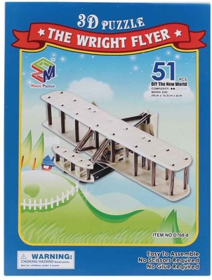 Magic Puzzle The Wright Flyer 3D Puzzle