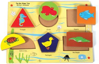 Skillofun Skillofun Fun Geo Shape Tray - Water Animals (Raised)