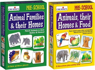 Creative's Animal Families & Their Homes & Animals, Their Homes & Food