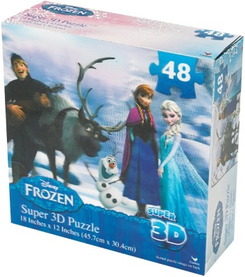 Disney Frozen Super 3D Puzzle (48-Piece) Styles Will Vary