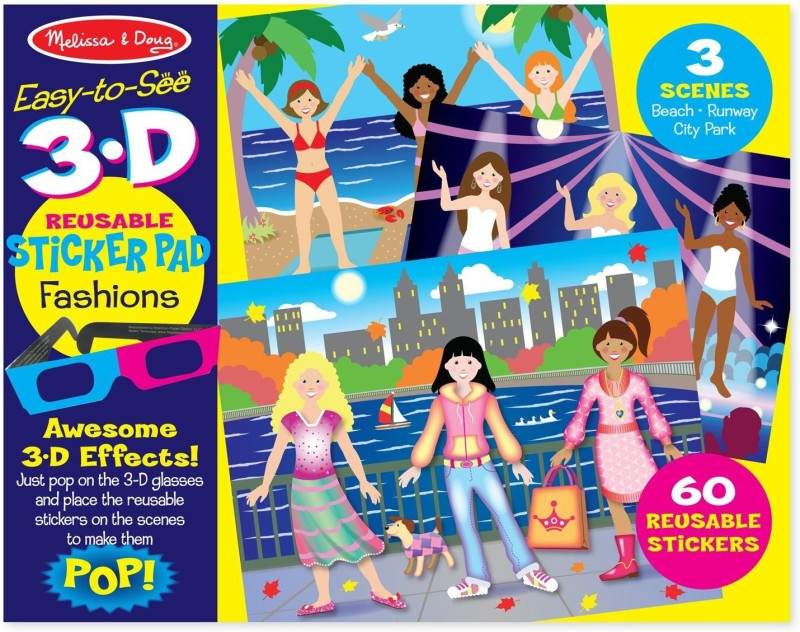 Melissa & Doug Easy-to-See Fashions Puzzle(3 Pieces)