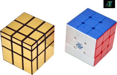 Montez Shengshou Golden Mirror Cube & Stickerless Cube Combo