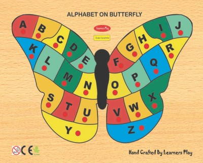 Learner's Play Alphabet on Butterfly Puzzle