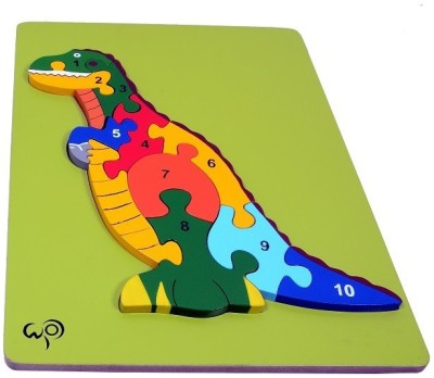 wood o plast T-Rex Raised Puzzle With 1-10 Numbers