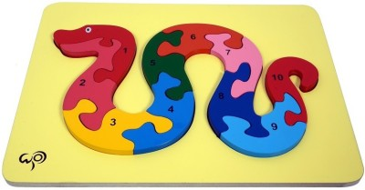 wood o plast Snake Raised Puzzle With 1-10 Numbers