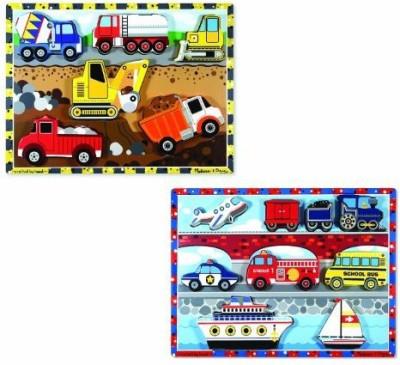 Melissa & Doug Chunky Bundle - Vehicles & Construction