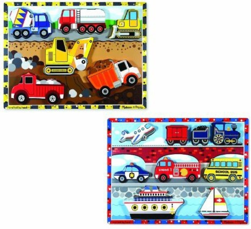 Melissa & Doug Chunky Bundle - Vehicles & Construction(1 Pieces)