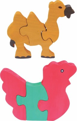 Enigmatic Woodworks Wooden Jigsaw Puzzle Camel + Hen