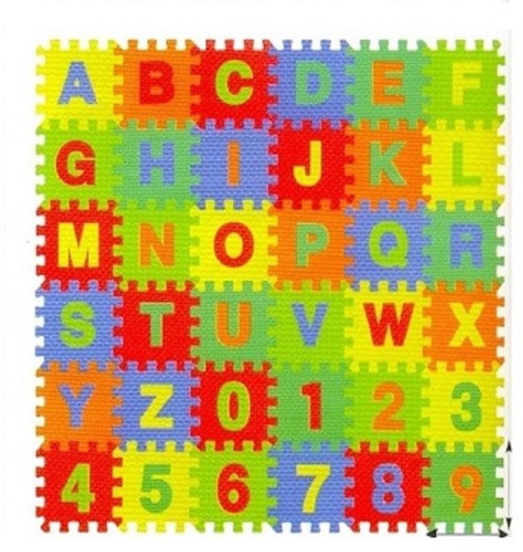 Kiddy 26pcs Alphabet & 10pcs Numbers Puzzle Mat(36 Pieces)
