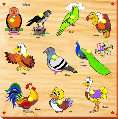 Kinder Creative Birds with Knobs