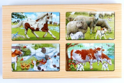Pigloo 4 Wooden Jigsaw Puzzles