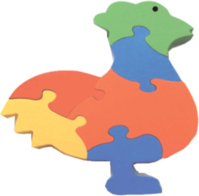 Learner's Play Cock Jigsaw Puzzle - Colored