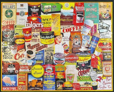 White Mountain Puzzles White Mountain Puzzles - Great Coffee Brands Jigsaw Puzzle