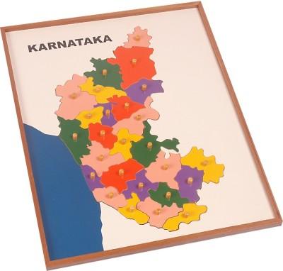 Kidken Montessori Map Puzzle : Karnataka