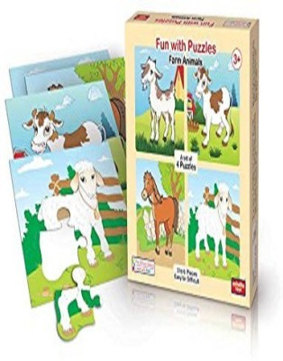 ANINDITA TOYS FUN WITH PUZZLES FARM ANIMALS - FWP-FA